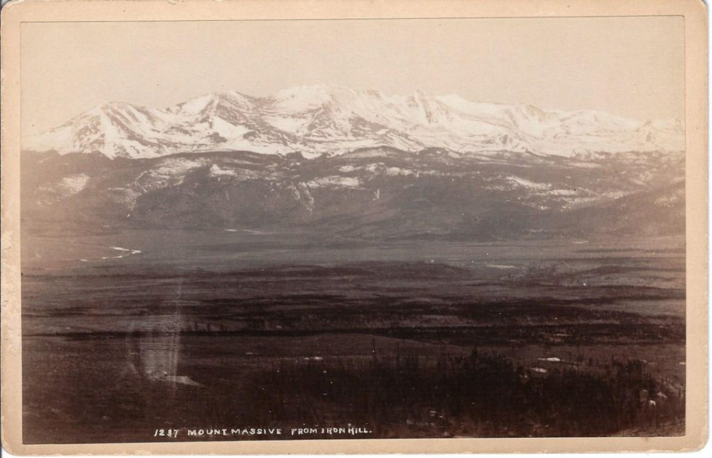 Jackson 1237 Mount Massive from Iron Hill Leadville