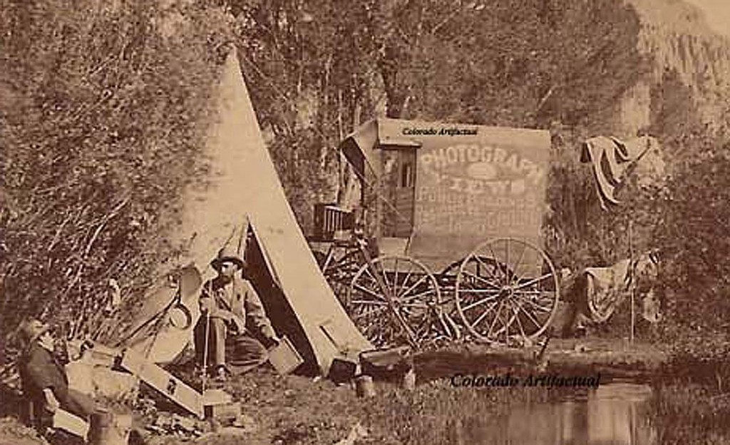 George Mellen photographer's wagon Gunnison 1882 c