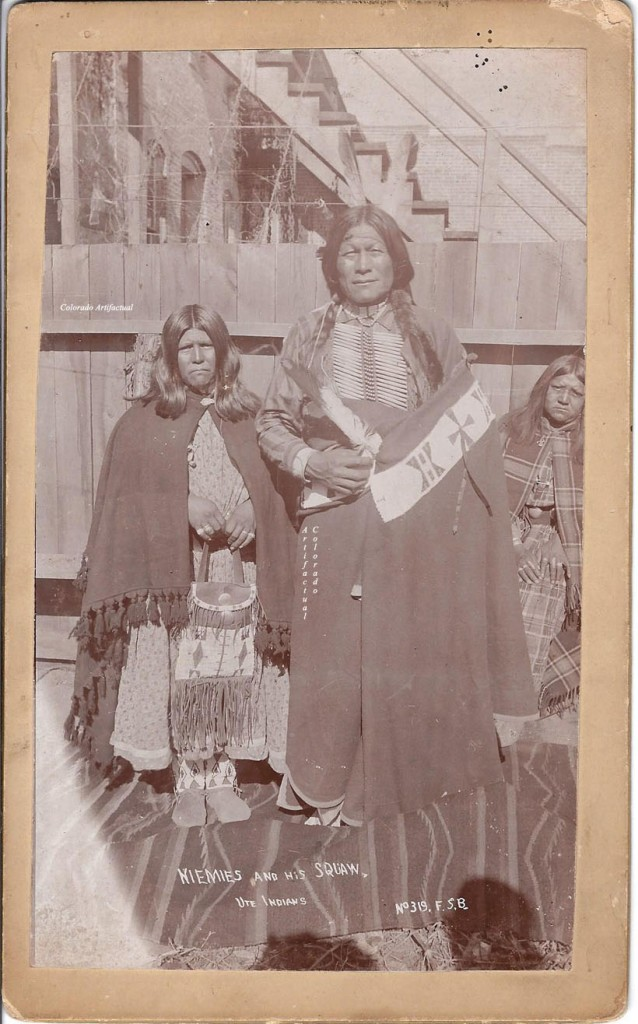 Niemies & Squaw, Ute Indians F S Balster 319 b