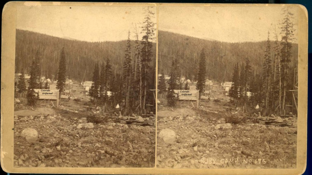 Ruby Camp, Gunnison County, Colorado, circa 1881. Colorado Views #175. Photographed and published by F. D. Storm, Denver, Colorado.