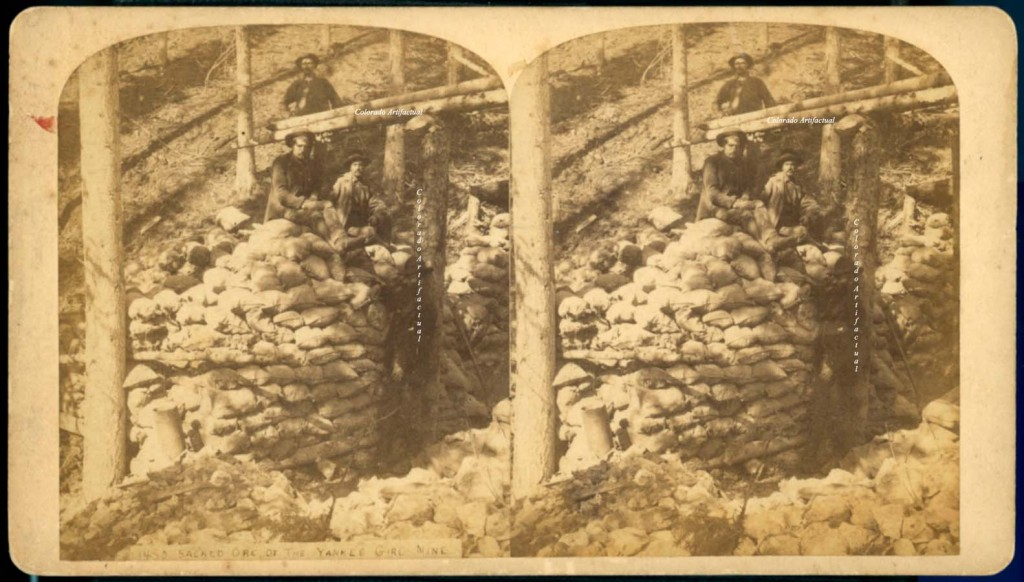 Sacked ore of Yankee Girl Mine Red Mountain 1883 c