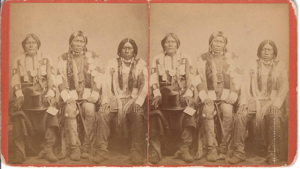 Three Native American males Duhem Bros Denver CO 4 b