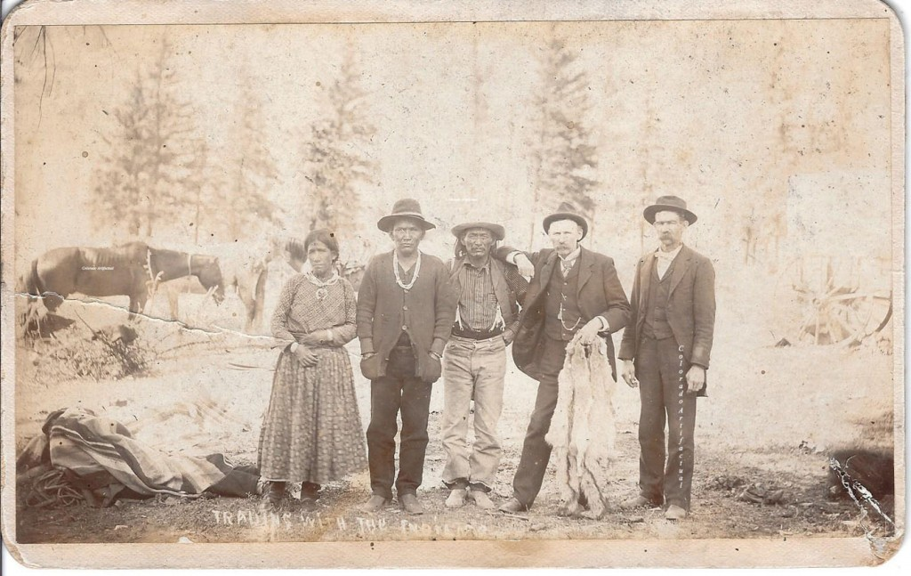 Trading with Indians Glew photo Wyman dealer 2