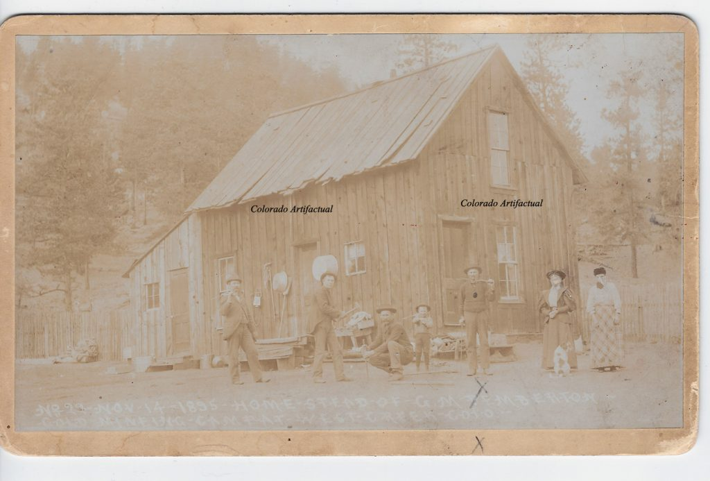 Homestead of G M Pemberton West Creek Gold Mining Camp Hiestand 22b