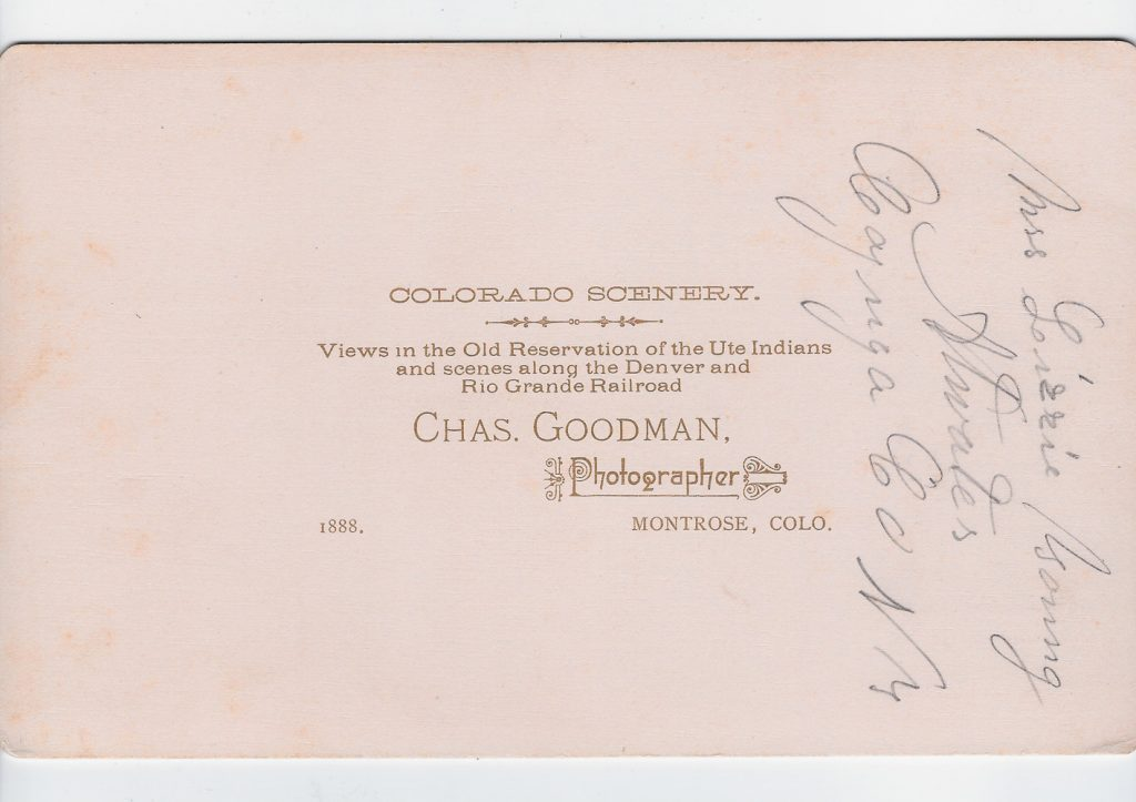 Placerville Colorado Goodman 1887 back