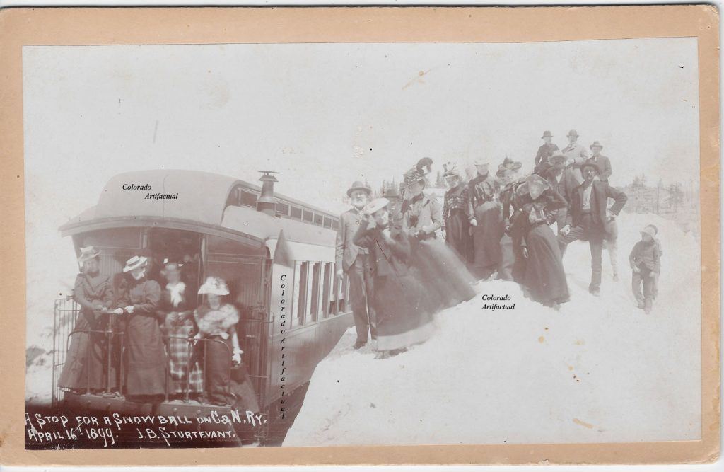 A Stop for a Snowball C&N Ry 1899, Boulder County 26b