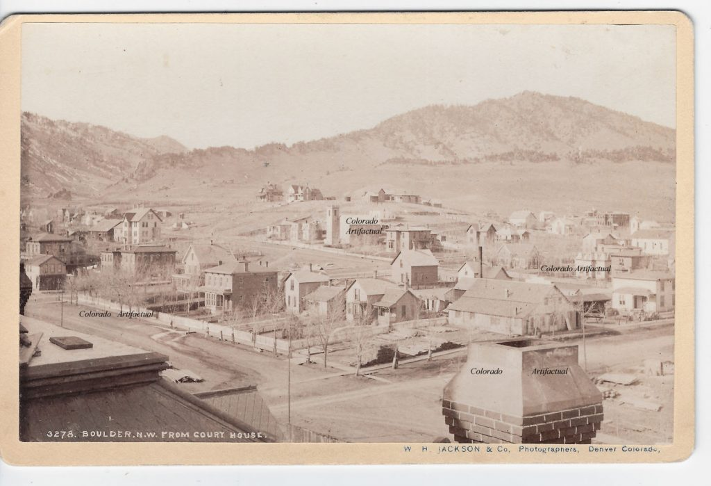 Boulder NW from Court House Boulder County Colo WHJ photo 104b