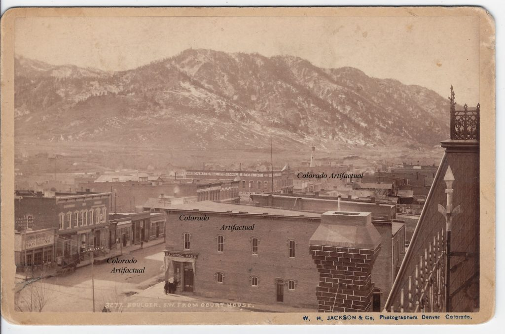 Boulder SW from Court House Boulder County Colo WHJ photo 100b