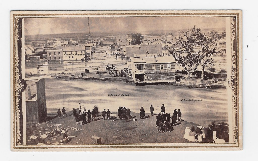 Denver Flood 1864 Denver CT CDV 2