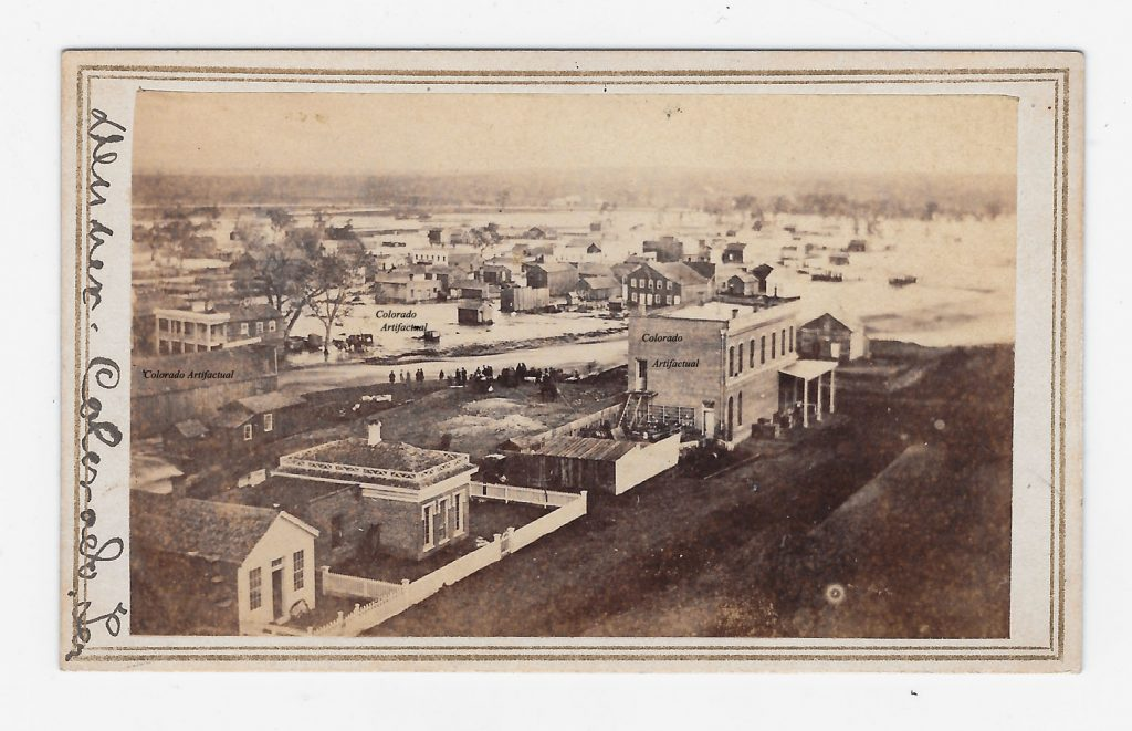 Denver Flood b 1864 Denver CT CDV 2