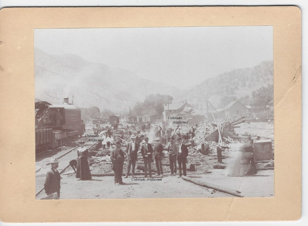 Freight explosition at depot 1907 Boulder Colo 95b