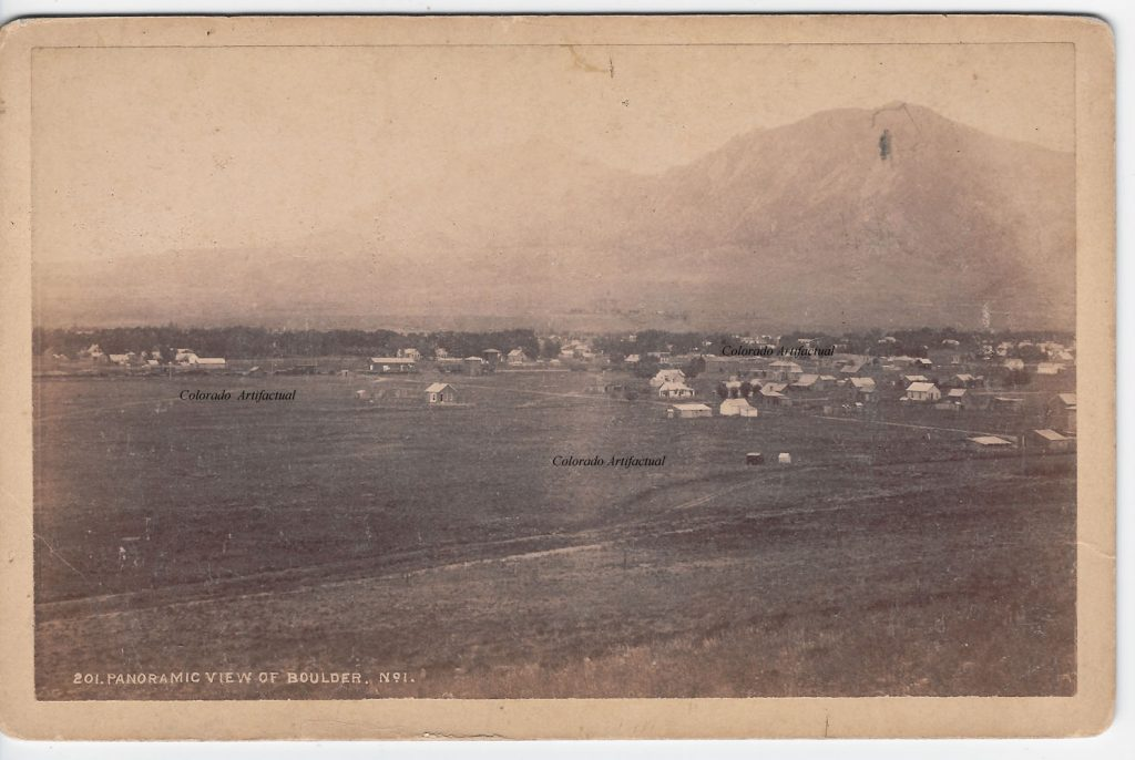 Panoramic View of Boulder #1 Boulder County Colo WHJ photo 105b