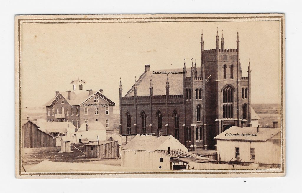 Side View Methodist Church Denver CT CDV 2