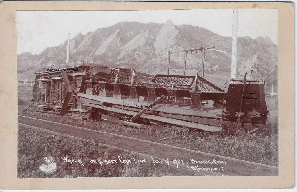 Wreck Street Car Line July 1902 Boulder County Colo 51b