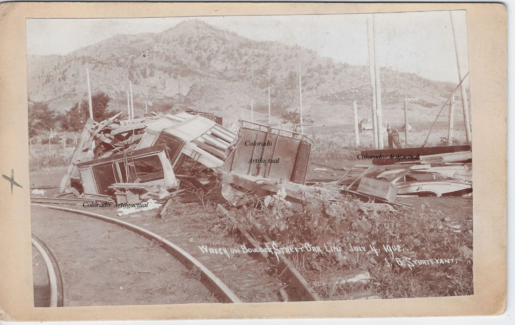 Wreck Street Car Line July 1902 Boulder County Colo 52b