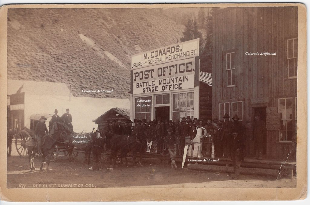 Battle Mountain Stage Office 1885 WHJ 671 b