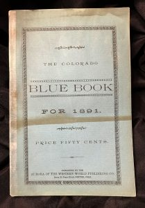 Colorado Blue Book 1891