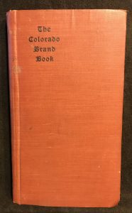 Colorado Brand Book 1906