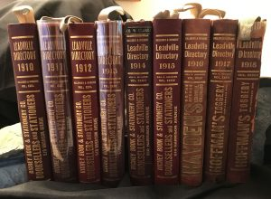 Leadville Colorado Directory Collection, 1880 - 1918