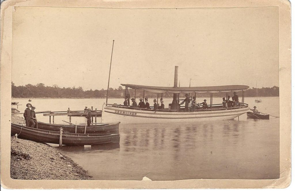Unknown Des Moines tourist boat on Twin Lakes near Leadville