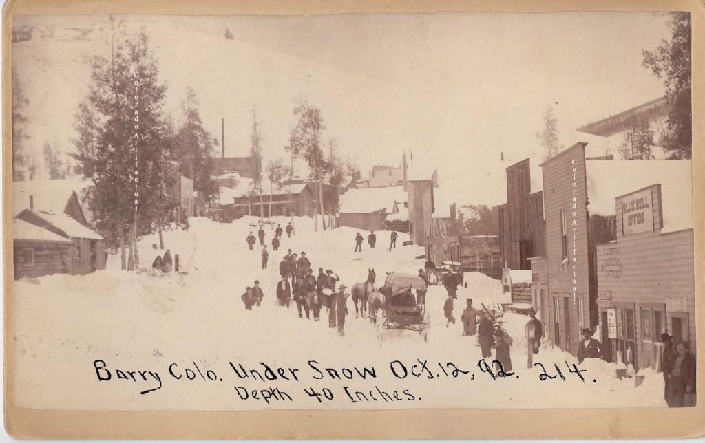 Barry Colo under Snow Oct 1892 Harlan 1