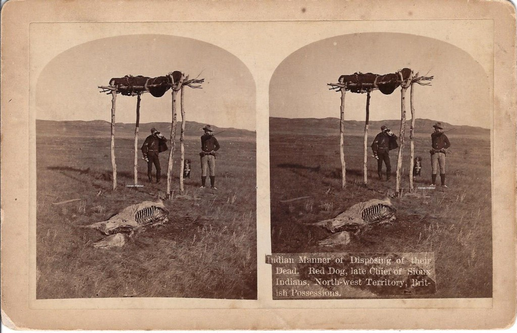 Burial Red Dog late Chief of Sioux NW Terr BC Hook 2