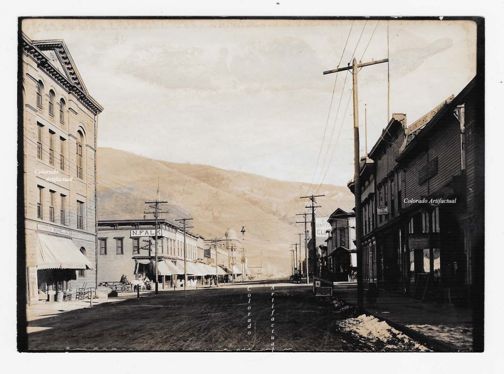 Looking down Hyman Ave Aspen ca 1900 b