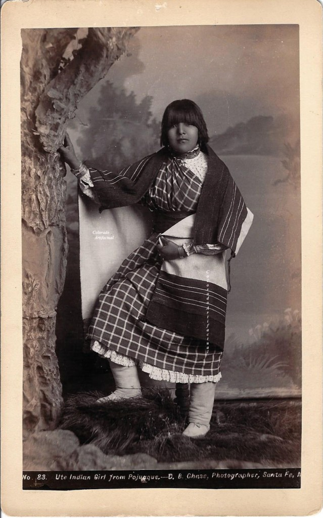 Ute Indian Girl from Pojuaque Chase 83 Santa NM 2