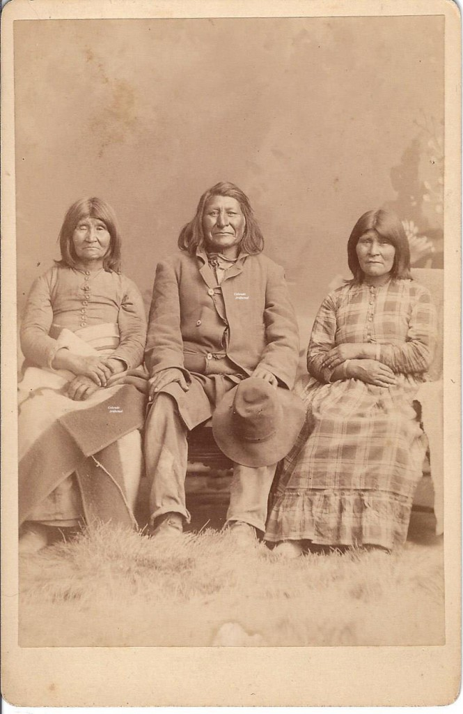 Ute Indian & Wives 1891 b