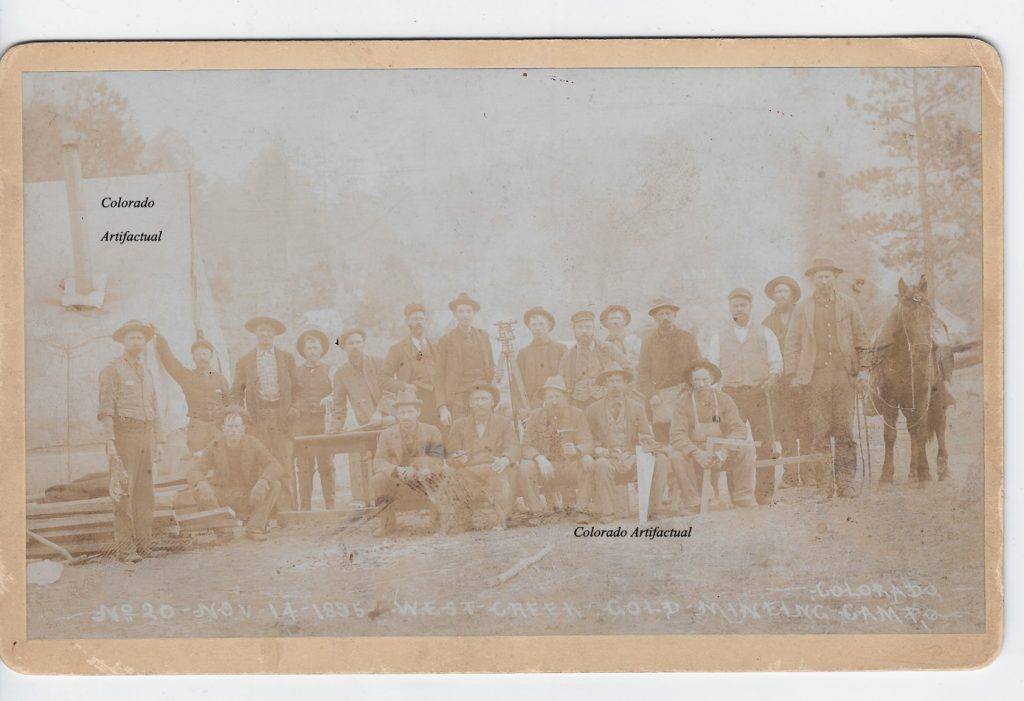 West Creek Gold Mining Camp Hiestand 20b