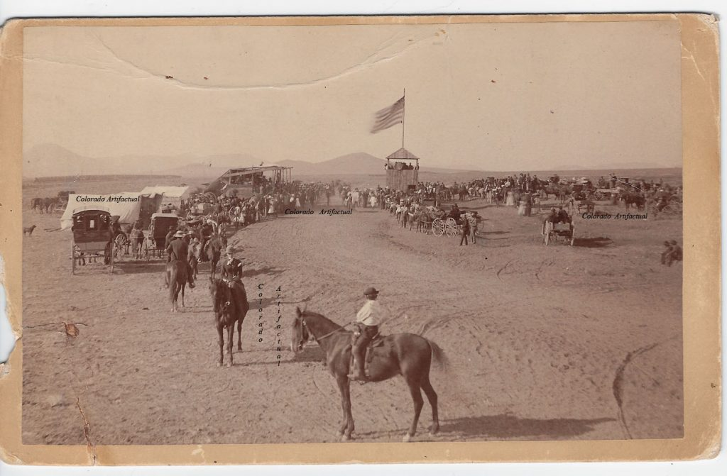 Horse racing near Silver Cliff 2